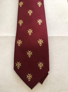 huguenot-cross-maroon-tie